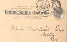 1898 POSTAL CARD FIRST NATIONAL BANK WACO TEXAS E ROTAN R. F. GRIBBLE Belton TX