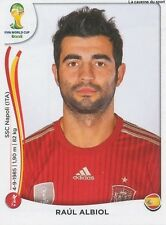 N°113 RAUL ALBIOL # ESPANA STICKER PANINI WORLD CUP BRAZIL 2014