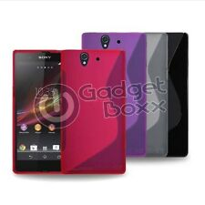 Case For Sony Xperia Z S-Line Silicone Gel Skin Tough Shockproof Phone Cover