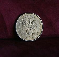 Poland 2 Grosze 2005 Brass World Coin Y277 Polska Eagle with Wings Polish Europe