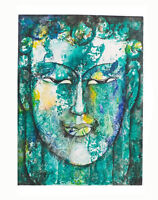 Peinture Da Budda Artista Noto Nepal Artigianale Capolavoro Unica 8477