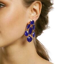 KATE SPADE NEW YORK LUSH GORGEOUS SAPPHIRE BLUE CHANDELIER DROP EARRINGS