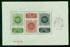 ANGOLA #330a Philatelic Exhibition souvenir sheet, og, NH, VF, w/handstamp