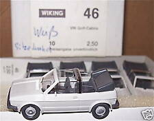 VW Golf cabriolet gris blanc Wiking 1:87