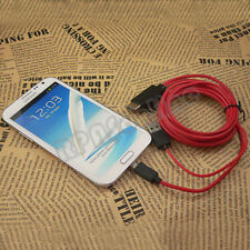 Micro USB to MHL HDMI HDTV Cable adapter for Samsung Galaxy Note 2 GT-N7100 RED
