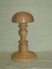 WOODEN SHORT HAT WIG STAND LIGHT OAK WOOD  HANDMADE BARRISTERS JUDGE ETC