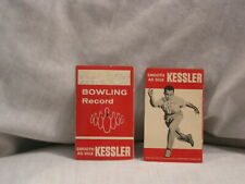 KESSLER WHISKEY BOWLING RECORDS CARDS