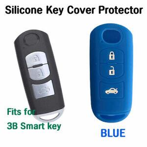 Car key cover protector Fits Mazda CX5 CX7 CX9 MPS SP25 2, 3, 6 3B smart - BLUE