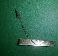 Emporio Armani fermacravatta Argento 800 laminato Oro uomo barretta con catenina