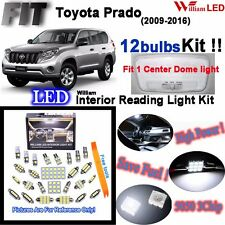 12pcs White LED Interior Light Kit For Toyota Land Cruiser Prado J150 2009-2018