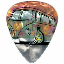 12 Pack PEACE LOVE HAPPY Hippie VW Bus Transporter Medium Gauge Guitar Picks