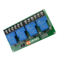 5VDC 30A PNP 4 Channel Relay Driver Module Expansion Board NEW