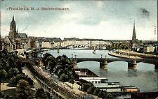 Frankfurt am Main Hessen Color AK 1907 Teilansicht mit Sachsenhausen Brücke