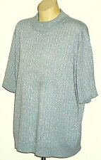 SAG HARBOR SilverMetallicBlendS/sPartyKnit Size1X as NEW