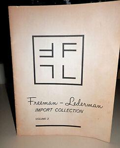 Ultra Rare Freeman Lederman Company Catalogue Volume 3 Original Factory Item