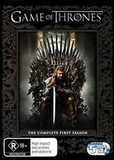 GAME OF THRONES-Season 1-Region 4-New AND Sealed-5 Disc Set-TV Series