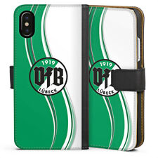 Apple iPhone x bolso funda flip case-VfB Lübeck verde blanco #1