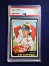 1965 Topps Bob Humphreys #154 PSA 9 St Louis Cardinals