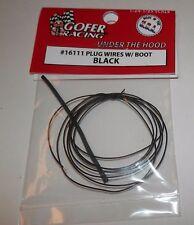 Gofer Racing 1:24/25 Plug Wires with Boot BLACK #16111 NIP
