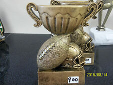 """Football trophy or award, about 5"""" tall, engraving included, trophy cup & ball"""