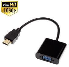 HDMI Stecker zu VGA Buchse Kabel Adapter Konverter Videokabel Laptop PC HD *NEU*