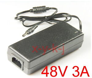 AC 100V-240V Converter Adapter DC 48V 3A Switching power supply Charger DC 5.5mm