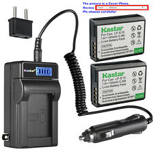 Kastar Battery LCD AC Charger for Canon LP-E10 LC-E10 & Canon EOS Rebel T7 DSLR