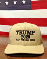 100% Made In USA Trump 2020 Keep America Great Hat Structured High Crown Meshbak