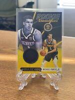 2020-21 NBA Hoops Rookie Remembrance Michael Porter Jr. Jersey Card SS-10