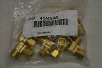 "10 Pack Brass Male Elbow 90 degree 3/8"" tube 3/8"" Pipe Compression MNPT 46M545"