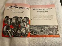 Mid 20th Cent. Ohio History, Very Rare Vtg Century Long Life Tires Sales Manual