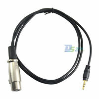 Hot 3.5mm Male to XLR ( 3-pin) Female Port Connector MIC Mixer AMP Cable 3ft 1m
