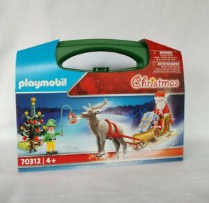 Playmobil Mitnehme Koffer 70312 Weihnachtsmann mit Schlitten & Elf   Neu & OVP