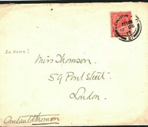 GB Cover RED CROSS Mail Chief Commissioner Signed *COURTAULD THOMSON* 1917 00.1