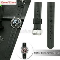 20mm/22mm Gummi Waffle Watch Strap Weich Band Taucher Uhr Q Ц T ⇪