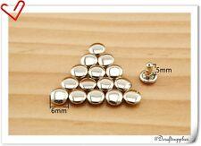 6mm * 6mm Nickel / anti bronze /gunmetal / gold double cap Solid brass rivets