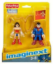 Fisher Price Imaginext Dc Super Amigos-Wonderwoman Y SUPERMAN-Nuevo