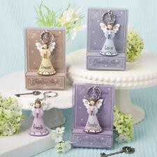 Guardian Angel Keychain Religious Bridal Shower Wedding Favors
