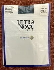 Vintage Ultra Nova Ultra Sheer Control Top Navy Pantyhose/Tights, Medium, BNWT