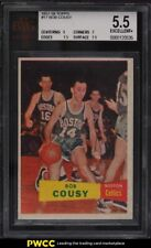 1957 Topps Basketball Bob Cousy ROOKIE RC #17 BVG 5.5 EX+