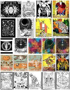 TAROT CARD Cotton Wall Hanging Poster Tapestry Hippie Bohemian Boho Mandala