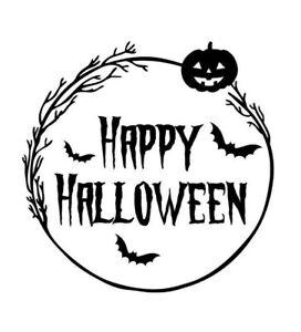 Happy Halloween Decal Sticker/ Word Cut Vinyl Decal
