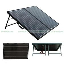 Upgrade Portable 100W Folding Mono Solar Panel Kit for 12V Battery Power Supply