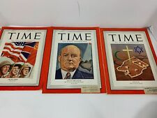 Lot Of 3 Time Magazines 1945-1946