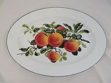 "PEACHES by Villery and Boch Dresden Huge 21"" Oval Serving Platter"