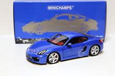 1:18 Minichamps Porsche Cayman S azul 2013 NUEVO de PREMIUM-MODELCARS