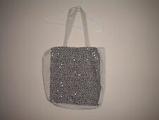 Cotton On Canvas Tote Bag With Black & White Dot Print.