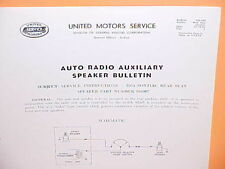 1954 1955 PONTIAC STAR CHIEF CHIEFTAIN DELCO RADIO REAR SPEAKER SERVICE MANUAL