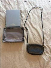 Genuine Mulberry Blossom Black Leather Shoulder Hand Bag Small In Box Excellent