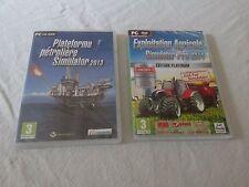 Jeu PC Agricole Pro 2014 et Plateforme Pétrolière 2013 neuf sous blister